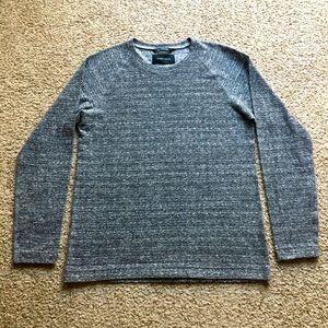 Wings + Horns Gray Slub Textured Cotton LS Shirt